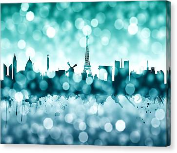 Paris France Skyline Canvas Print