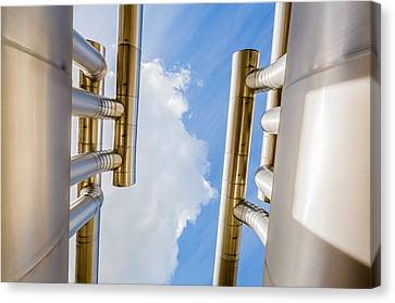 Pipes At Nesjavellir Geothermal Power Canvas Print