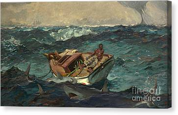 Water Vessels Canvas Print - The Gulf Stream by Winslow Homer
