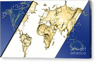 World Map Collection Canvas Print