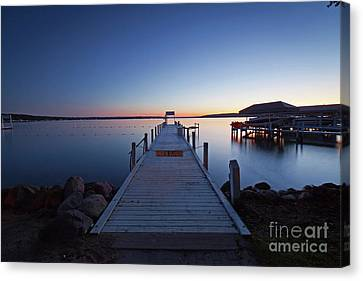 Lake Geneva Wisconsin Canvas Print - 1362 Lake Geneva Pier by Steve Sturgill
