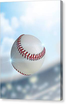 Ball Flying Through The Air Canvas Print