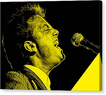Billy Joel Collection Canvas Print by Marvin Blaine