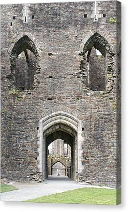 Caerphilly Castle Canvas Print by Carol Ailles