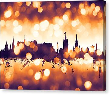 Edinburgh Scotland Skyline Canvas Print