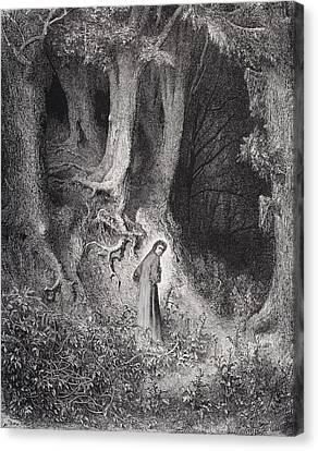 Engraving By Gustave Dore 1832-1883 Canvas Print
