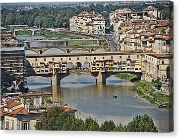 Canvas Print featuring the photograph Florence Italy by Cendrine Marrouat