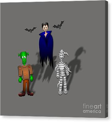Halloween Canvas Print by Frederick Holiday