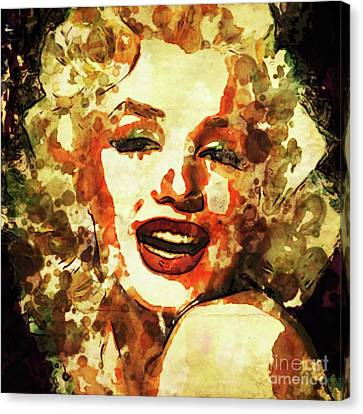Marilyn Monroe Vintage Hollywood Actress Canvas Print by Mary Bassett