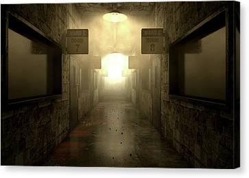 Mental Asylum Haunted Canvas Print by Allan Swart