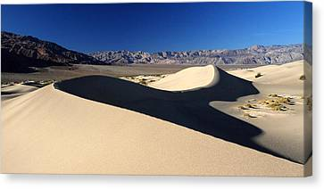 Mesquite Sand Dunes In Death Valley National Park Canvas Print by Pierre Leclerc Photography