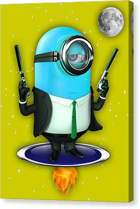 Minions Collection Canvas Print by Marvin Blaine