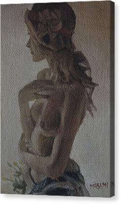 Modesty Canvas Print by Masami Iida