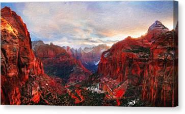Nature Art Landscape Canvas Art Paintings Oil Canvas Print by Margaret J Rocha