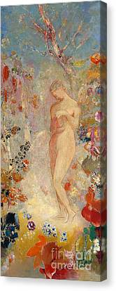 Pandora Canvas Print by Odilon Redon