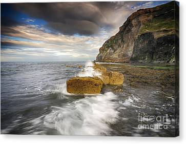 Saltwick Bay Canvas Print by Nichola Denny