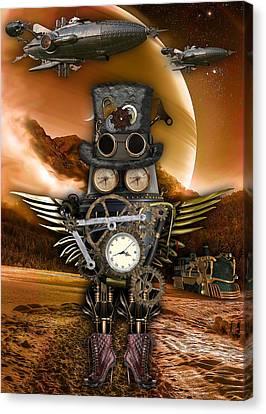 Steampunk Flying Machine Canvas Prints Fine Art America