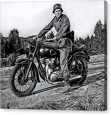 Steve Mcqueen Collection Canvas Print by Marvin Blaine