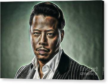 Actors Canvas Print - Terrence Howard Collection by Marvin Blaine
