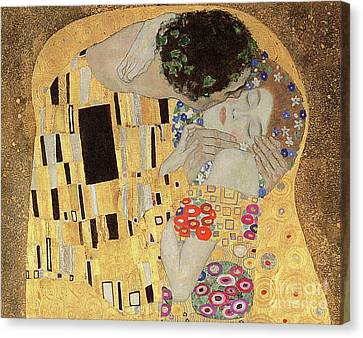 Passionate Lovers Canvas Print - The Kiss by Gustav Klimt