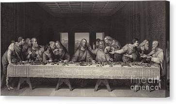 Last Supper Canvas Print - The Last Supper  by Leonardo Da Vinci