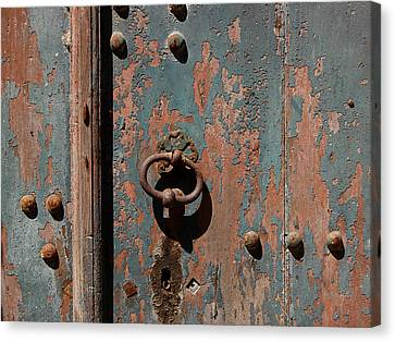 14th Century Door In France Canvas Print by Marion McCristall