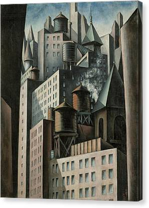 14th Street New York City Canvas Print by Bumpei Usui