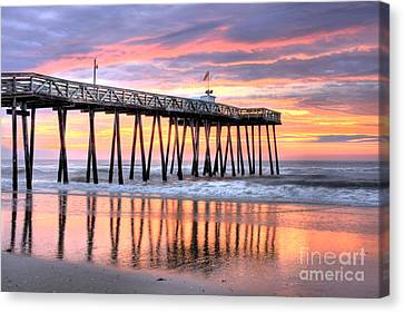 14th Street Pier Ocean City Nj Canvas Print by John Loreaux