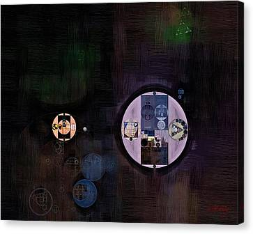 Abstract Painting - Smoky Black Canvas Print by Vitaliy Gladkiy