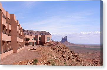 America - Monument Valley View Hotel Canvas Print by Jeffrey Shaw