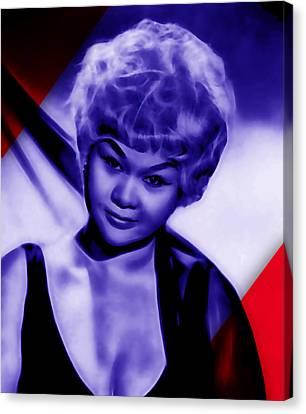 Music Canvas Print - Etta James Collection by Marvin Blaine