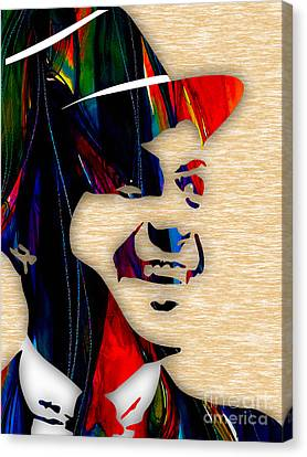 Frank Sinatra Canvas Print - Frank Sinatra Collection by Marvin Blaine