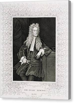 Isaac Newton, English Polymath Canvas Print by Science Source