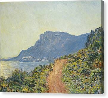 Monet Canvas Print - La Corniche Near Monaco by Claude Monet