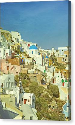 Cyclades Canvas Print - Oia - Santorini by Joana Kruse
