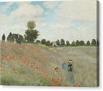Monet Canvas Print - Poppy Field by Claude Monet