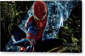 Spiderman Collection Canvas Print by Marvin Blaine