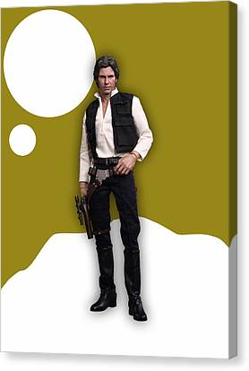 Harrison Canvas Print - Star Wars Han Solo Collection by Marvin Blaine