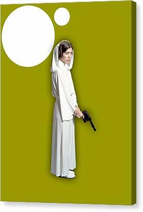 Star Wars Princess Leia Collection Canvas Print
