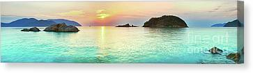 Weathered Canvas Print - Sunrise by MotHaiBaPhoto Prints