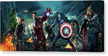 The Avengers 2012 Canvas Print by Unknown