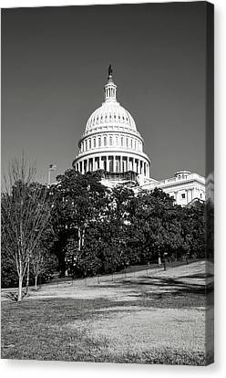 Washington Dc Capitol Hill Building Canvas Print by Brandon Bourdages