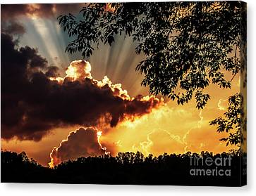 Canvas Print featuring the photograph Appalachian Sunset by Thomas R Fletcher