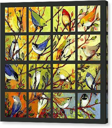16 Birds Canvas Print by Jennifer Lommers