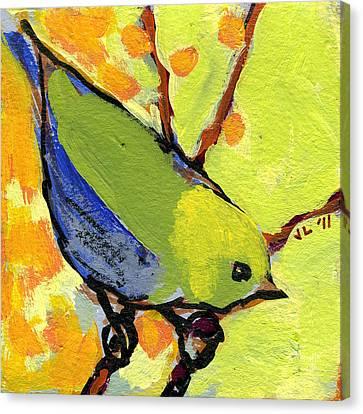 16 Birds No 2 Canvas Print by Jennifer Lommers