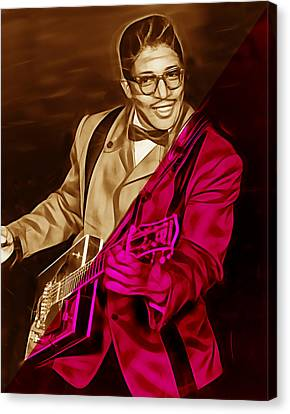 Musicians Canvas Print - Bo Diddley Collection by Marvin Blaine