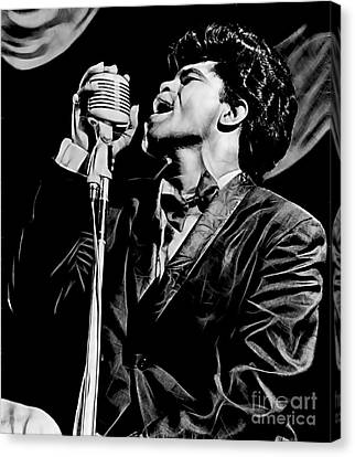 James Brown Collection Canvas Print by Marvin Blaine
