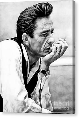 Johnny Cash Collection Canvas Print