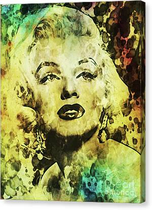 Mansfield Canvas Print - Marilyn Monroe Vintage Hollywood Actress by Mary Bassett