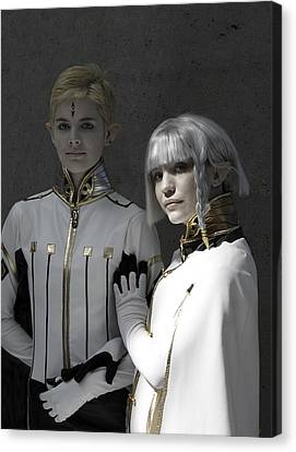Dio And Lucciola Canvas Print by Viktor Savchenko